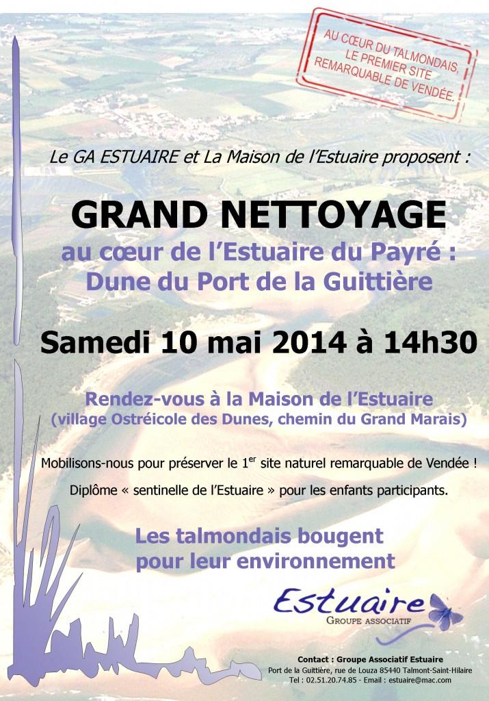 Journée nettoyage de estuaire du Payré le samedi 10 mai 2014 à 14h30
