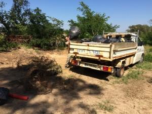 plus d'un camion de déchets récoltés
